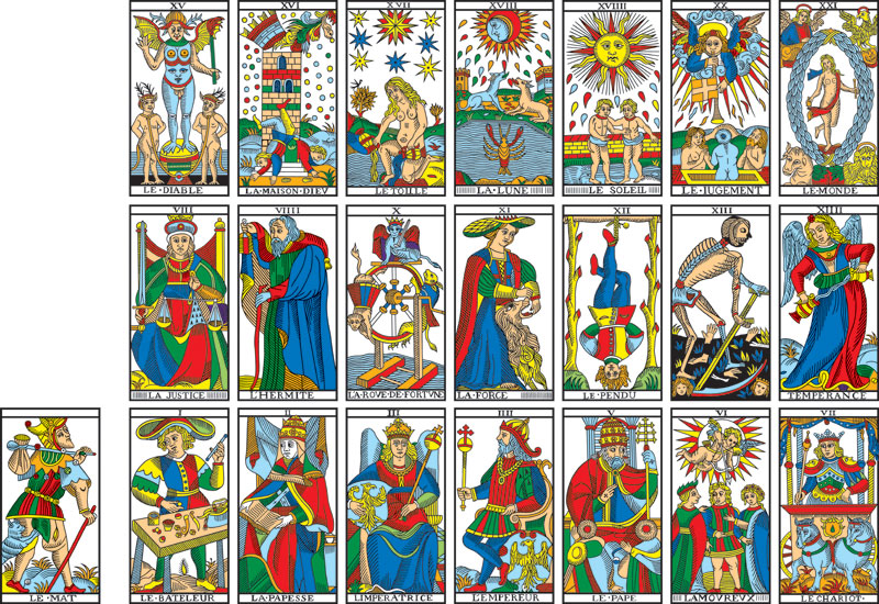 7945bb45e79eaa View of the Camoin 3x7 Diagram -- Camoin Tarot de Marseille (Tarot of  Marseilles)